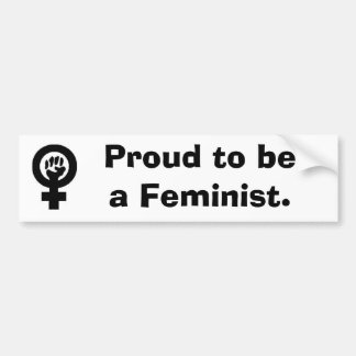 WomanFist, Proud to be a Feminist. Bumper Sticker