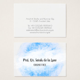 Womanlike, easily, as handmade business card