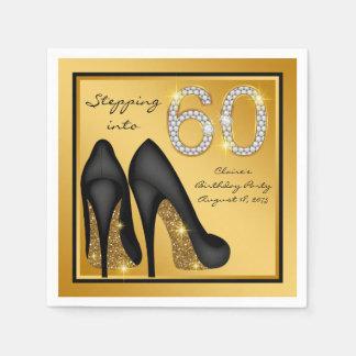 Womans 60th Birthday Party Napkin