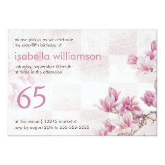 Woman's 65th Birthday Party | Mauve Magnolias Card