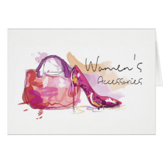 Woman's Accessories - Shoes and a Matching Bag! Card