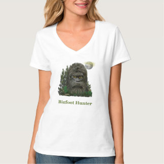 Womans Bigfoot hunter t-shirts