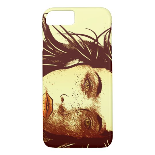 Woman's Blowing Hair, Colour iPhone 7 Case