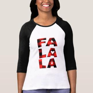 Womans Buffalo Plaid Christmas Shirt Fa La La