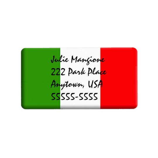 Woman's Classic Italian Address Label Template
