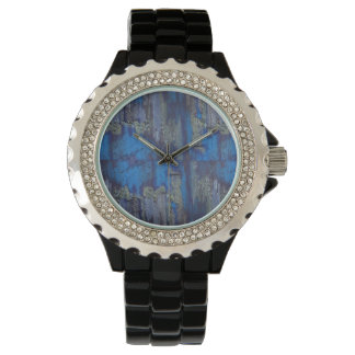 Woman's Designer Watch with Black Leather Strap