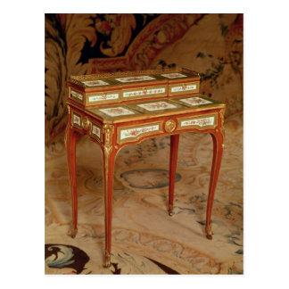 Woman's desk with panels of Sevres porcelain Postcard