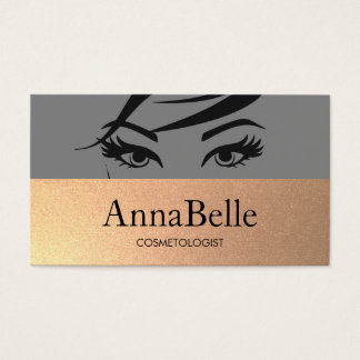Woman's Eyes and Brows Salon & Spa Business Card