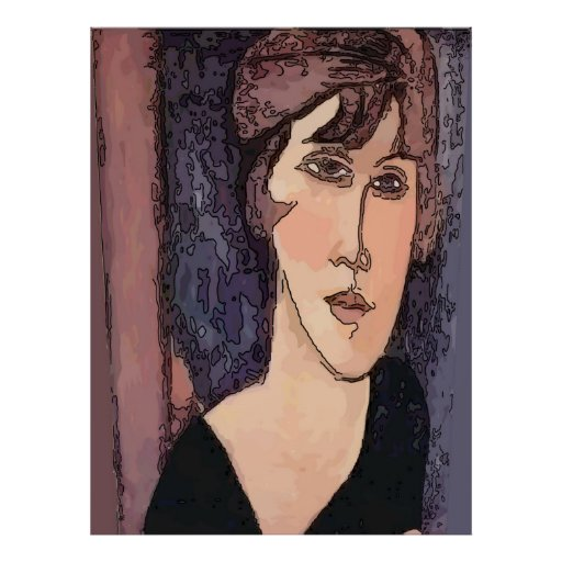 Woman's Face 7M Print
