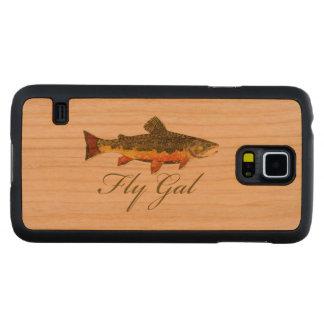 Woman's Fly Fishing Cherry Galaxy S5 Slim Case