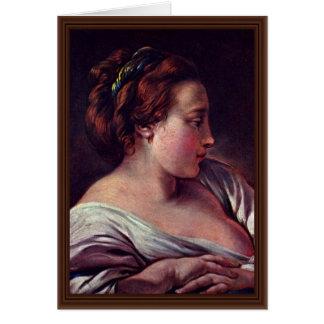 Woman'S Head By François Boucher Card