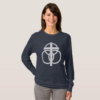 Woman's Long-sleeve T-shirt: Modern Logo T-Shirt