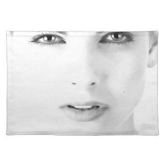 Woman's models face placemat