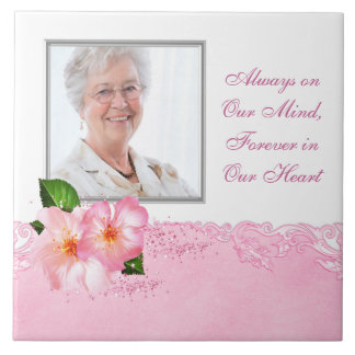 Womans Photo Memorial Tile