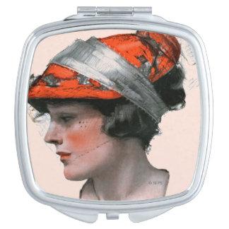 Woman's Profile Travel Mirror
