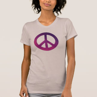 Womans Purple Peace Sign T-Shirt