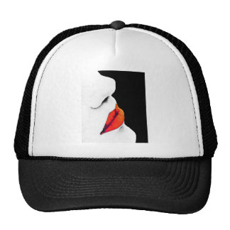 Woman's Red Lips (1) Mesh Hat