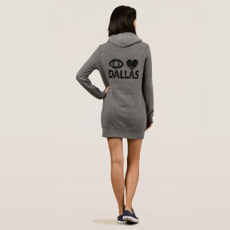 womans  sweater dress with a hoodie