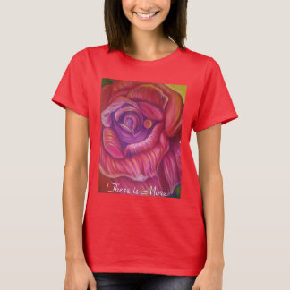 Womans T Shirt with fine art rose print