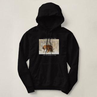 Womans tiger hooded jumper hoodie