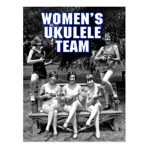 Woman's Uke Team Postcard