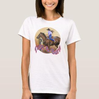 Woman's White Barrel Race T-Shirt
