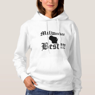 Womans White & Black Milwaukee Hoddie Hoodie