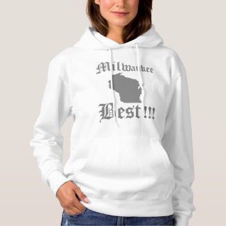 Womans White & Gray Milwaukee Hoodie