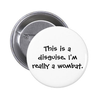 Wombat Costume 2 Inch Round Button
