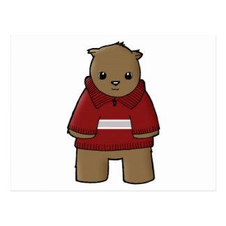 wombat in sweater with stripe jpeg postcard