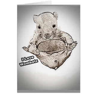 Wombat Joey Greeting Cards