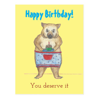 Wombat Mother Birthday Card