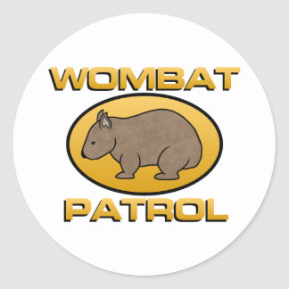 Wombat Patrol Round Sticker