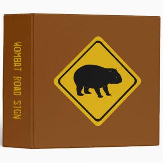 wombat road sign - binder