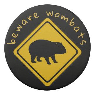 wombat road sign - eraser