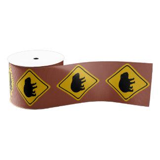 wombat road sign - ribbon grosgrain ribbon