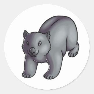 Wombat Round Sticker