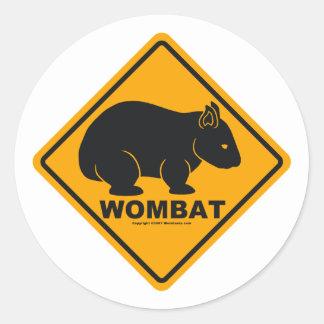 Wombat Sign Round Sticker