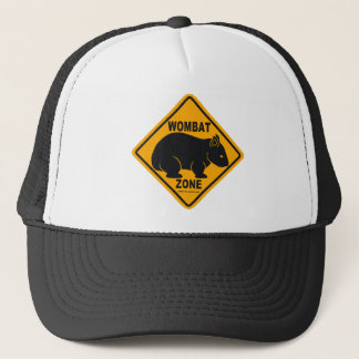 Wombat Zone Sign Trucker Hat