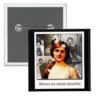 women 2 inch square button