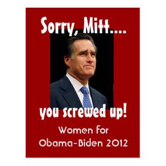 Women against Mitt Postcard