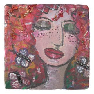 Women and Butterflies Trivet (You can Customize)