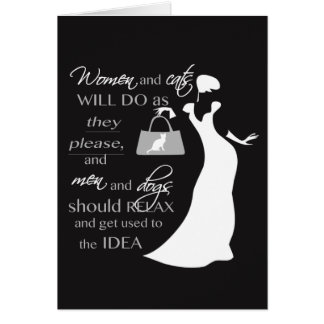 Women and cat quote greeting card