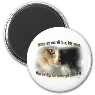 Women and Cats... Magnet