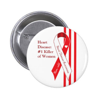 Women and Heart Disease Awareness 2 Inch Round Button