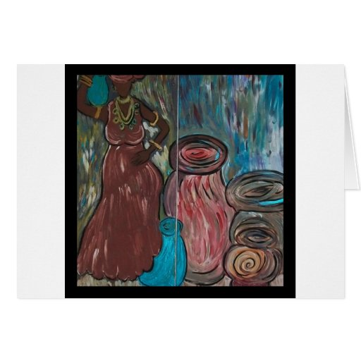Women and Water: Sustainers of Life Greeting Card