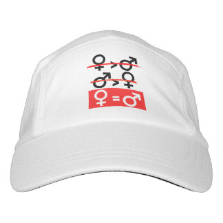 Women are Equal to Men - red --  Headsweats Hat