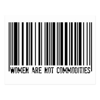 Women Are Not Commodities Postcard