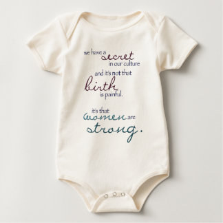 women are strong baby bodysuit