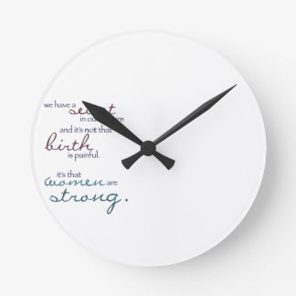 women are strong clock